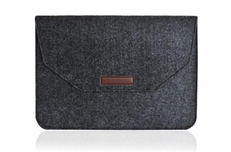 Чехол конверт для MacBook и пр. ноутбуков 15-16 дюймов, войлочный, черный