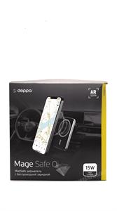 Автомобильный держатель Deppa Mage Safe QI для iPhone магнитный, черный