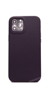 Чехол для iPhone 12 Pro Max King, кожаный, фиолетовый