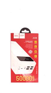 Дополнительный аккумулятор Hoco J65B 50000 mAh, 2A, 4 USB,FC, Led дисплей, фонарик, белый