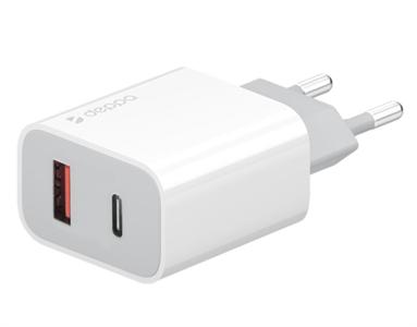Сетевое зарядное устройство Deppa USB-C + USB-A PD 3.0, QC 3.0, 20W