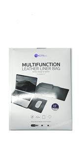 Мультифункциональный чехол для MacBook Pro 16' COTEetCl, кожаный, черный