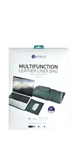 Мультифункциональный чехол для MacBook Pro/AIr 13' COTEetCl, кожаный, зеленый