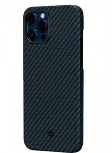 Чехол для iPhone 12 Pro Max Pitaka Magez Case (с поддержкой беспроводной зарядки и магнитного держателя), черный