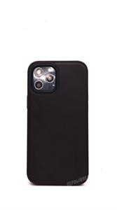 Чехол для iPhone 12/12 Pro Memumi, кожаный, черный