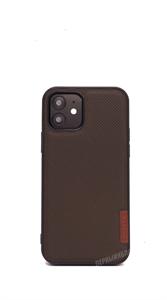 Чехол для iPhone 12/12 Pro DUX DUCIS Fino, тканевый, коричневый