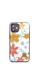 Чехол для iPhone 12/12 Pro iNeez, силиконовый, цветы желтые и оранжевые