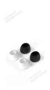Комплект сменных амбушюр LYAMBDA для AirPods Pro, размер L, 2 пары, белый + черный