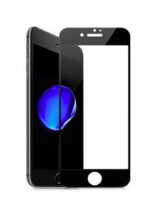 Защитное стекло для iPhone 7/8 3D Rock Space мягкий край, черный