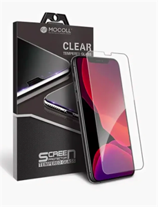 "Защитное стекло для iPhone Xr, 2.5D Mocoll (серия ""Black Diamond""), прозрачное"