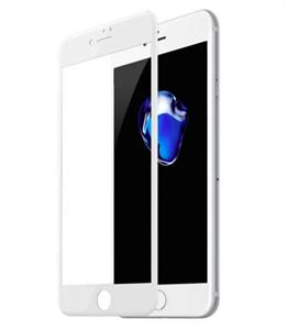 Защитное стекло для iPhone 7/8 Plus 3D Rock [Space] мягкий край, белый