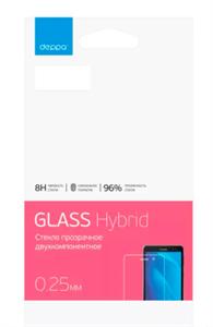 Защитное стекло для iPhone 7/8 Plus 2D 0.2мм гибридное, Flexi Glass by Deppa, прозрачное