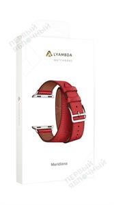 Ремешок LYAMBDA для Apple Watch 38-40mm кожаный в два оборота, красный