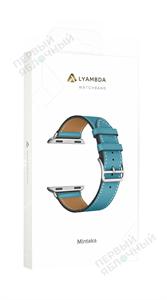 Ремешок LYAMBDA для Apple Watch 38-40mm кожаный, голубой