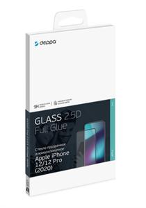 Защитное стекло 2,5D Classic для iPhone 12 Pro Max, 0.3мм, Deppa, черный