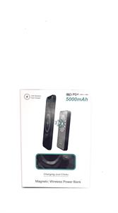 Дополнительный аккумулятор MagSafe 5000mAh, 15w, с подставкой, синий