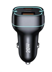 Автомобильное зарядное устройство TOTU minimal series PD, 20w, черный