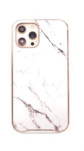 Чехол для iPhone 12 Pro Max King, мрамор, бежевый