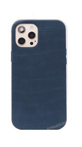 Чехол для iPhone 12 Pro Max King, кожаный фактурный, изумрудный