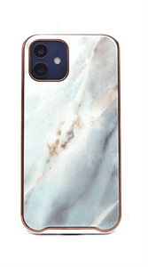 Чехол для iPhone 12/12 Pro King, мрамор, бирюзовый