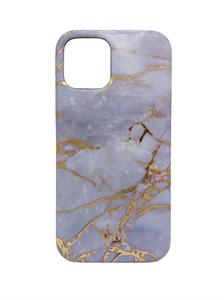 Чехол для iPhone 12/12 Pro KingsBar силиконовый, мрамор, голубой