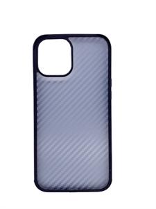 Чехол для iPhone 12/12 Pro Sulada противоударный, карбоновый с металлическим бампером, черный