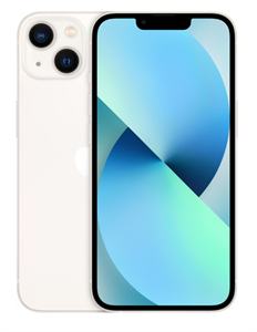 Смартфон iPhone 13 128GB, Starlight, сияющая звезда (MLNX3)
