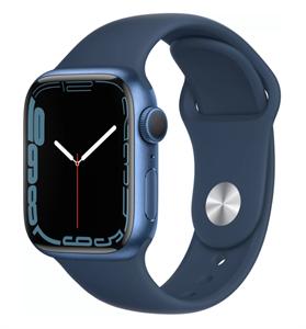 Умные часы Watch S7 41mm Blue Aluminum Case with Clover Sport Band (MKN13)