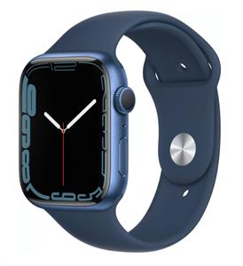 Умные часы Watch S7 45mm Blue Aluminum Case with Clover Sport Band (MKN83)