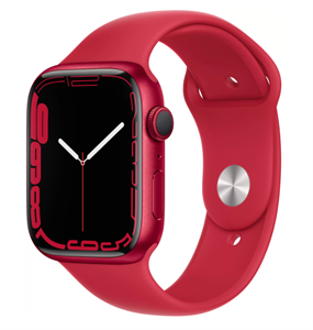 Умные часы Watch S7 45mm (PRODUCT)RED Aluminum Case with (PRODUCT)RED Sport Band (MKN93)