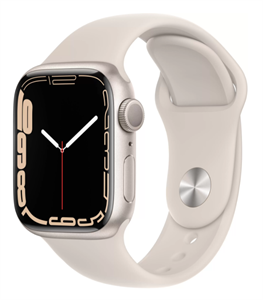 Умные часы Watch S7 41mm Starlight Aluminum Case with Starlight Sport Band (MKN63)