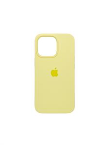 Чехол для iPhone 13 Pro Max Silicone Case HQ, желтый