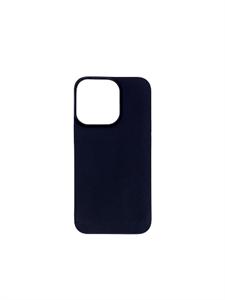Чехол для iPhone 13 Pro Max силиконовый плотный, черный