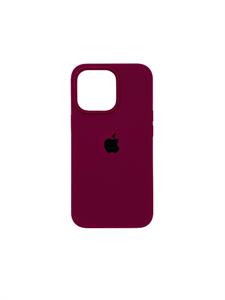 Чехол для iPhone 13 Pro Silicone Case HQ, бордовый
