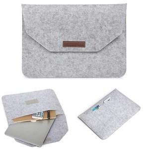 Чехол конверт для MacBook и пр. ноутбуков 13 дюймов, войлочный, серый