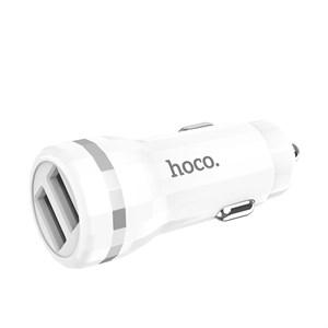 Автозарядка Hoco Z27, 1m, 2USB, 2,4A с Lightning кабелем