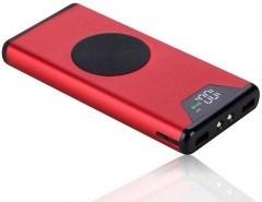 Дополнительный аккумулятор 10000mAh беспроводное ЗУ + Power bank G-Power Master Series, красный