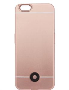 Чехол аккумулятор для iPhone 6/6s 3800mAh X5, розовое золото