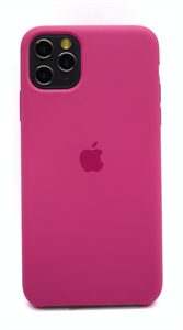 Чехол для iPhone 11 Pro Max Silicone Case (Dragon Fruit), фуксия (OR)