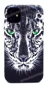 Чехол для iPhone 11 силиконовый, Luxo, леопард