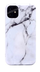Чехол для iPhone 11 силиконовый мрамор белый (SL)