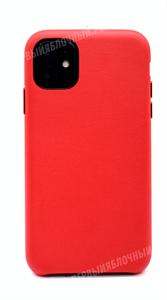 Чехол для iPhone 11 кожаный, K-DOO Noble, красный