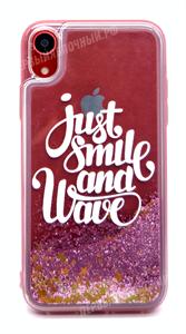 Чехол для iPhone Xr силиконовый, объемный, Life Style, just smile, прозрачный