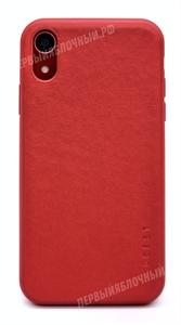 Чехол для iPhone Xr силиконовый, под кожу твердый, Mobest, красный (SL)