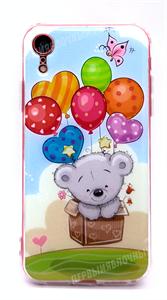 Чехол для iPhone Xr силиконовый, HQ картинки, мишка в коробке (УЦ)