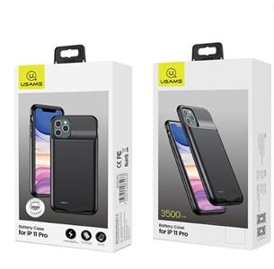 Чехол аккумулятор для iPhone 11 Pro USAMS, 3500 mAh, черный