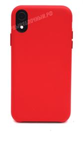Чехол для iPhone Xr кожаный, KeepHone, красный