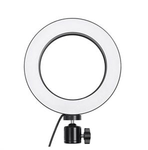 Кольцевая светодиодная лампа 16см со штативом для профессиональной съемки (2м)