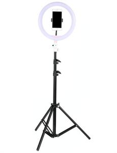 Кольцевая светодиодная лампа 26 см скреплением для телефона и триподом (тринога)