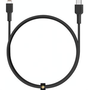 Кабель Lightning to USB-C MFI, Rofi C94 Perfume (усиленная оплетка) (1.2M), черный